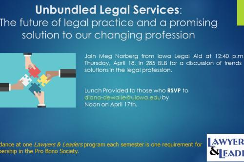 Flyer for Unbundled Legal Services