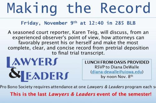 Event flyer for Making the Record.